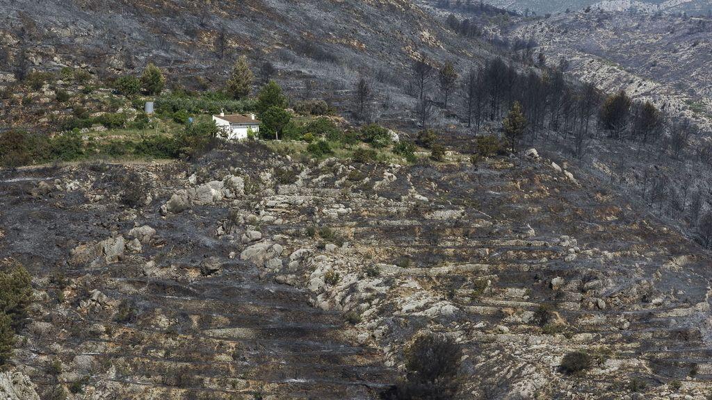 Controlado el incendio forestal de Segorbe tras calcinar casi 40 hectáreas