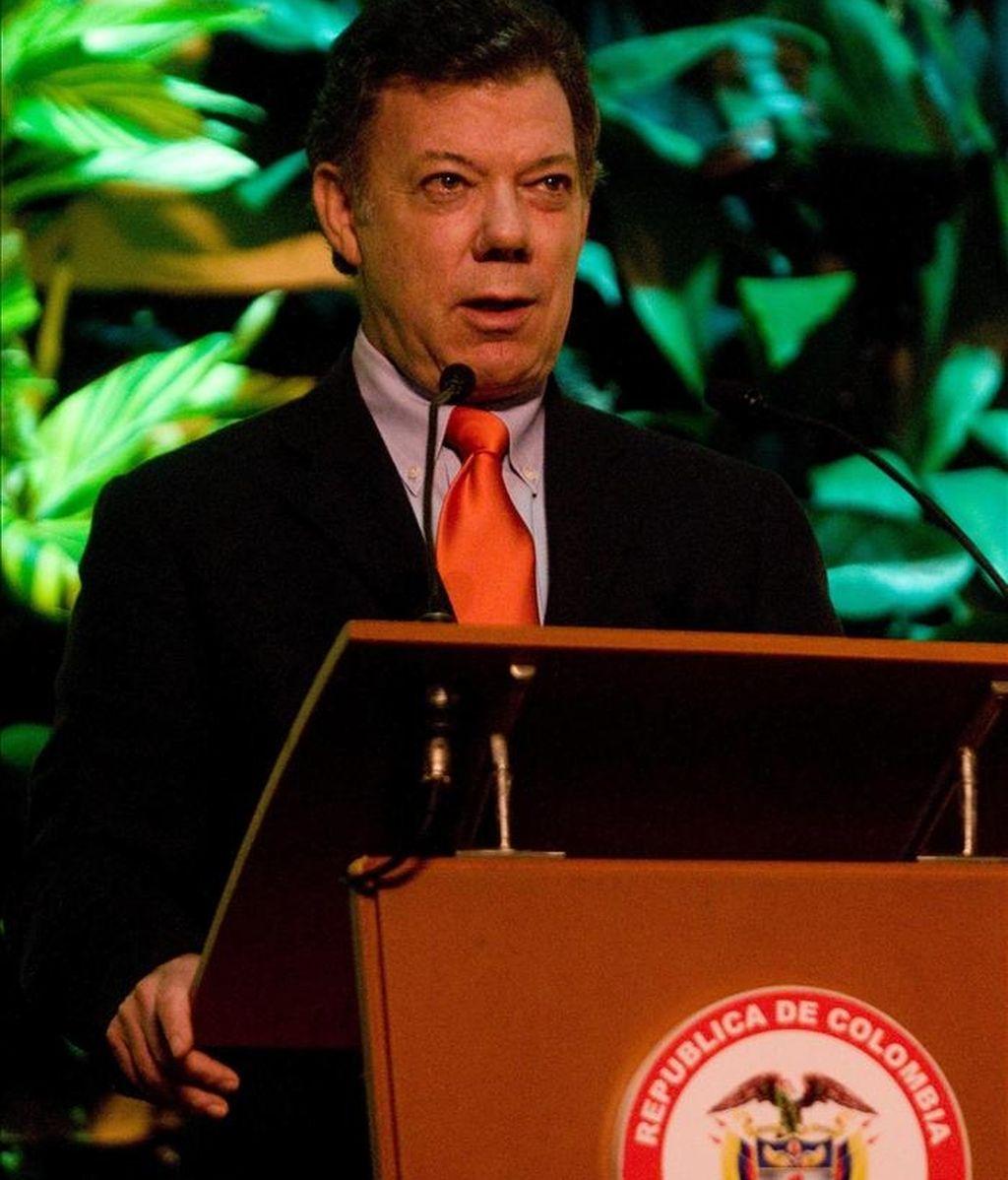 El presidente colombiano, Juan Manuel Santos, ofreció los buenos oficios de su país para desde el Consejo de Seguridad de la ONU. EFE/Archivo