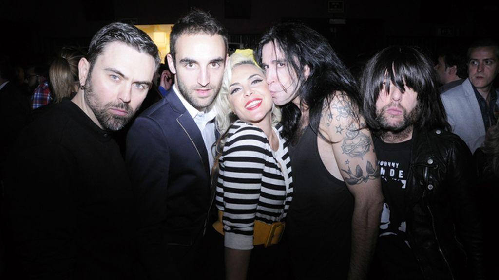"""Miguel Balanzategui """"la Favor"""", Álvaro Gutiérrez, Silvia Superstar, Mario Vaquerizo y Juan Pedro"""