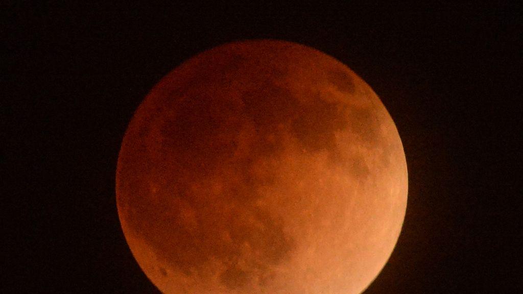 El eclipse de luna desde Los Ángeles