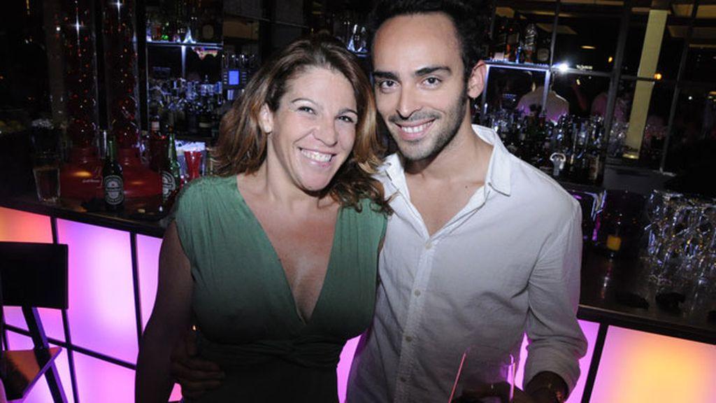 Marta Herrero y el actor Rodrigo Taramona