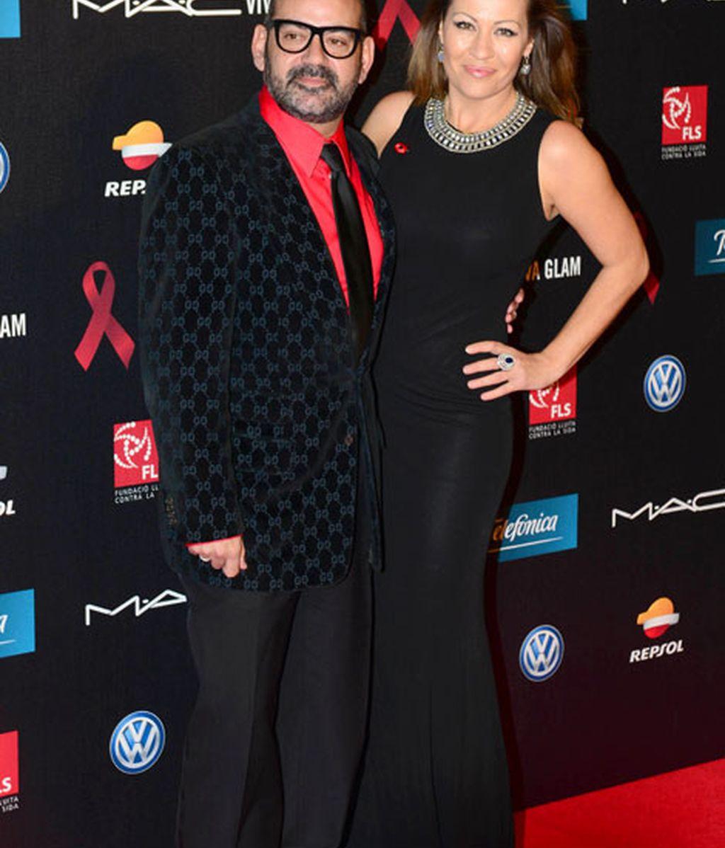 El actor José Corbacho junto a su acompañante