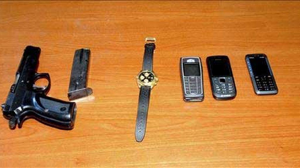 Objetos confiscados