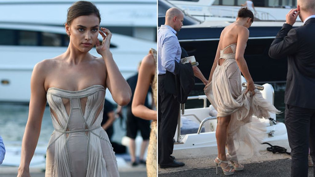 Irina Shayk apareció con un Atelier Versace