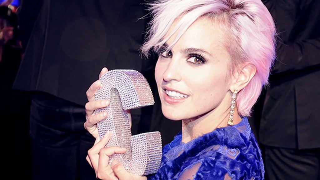 Bellísimo primer plano de la flamante ganadora a la mejor actriz de cine, Verónica Echegui