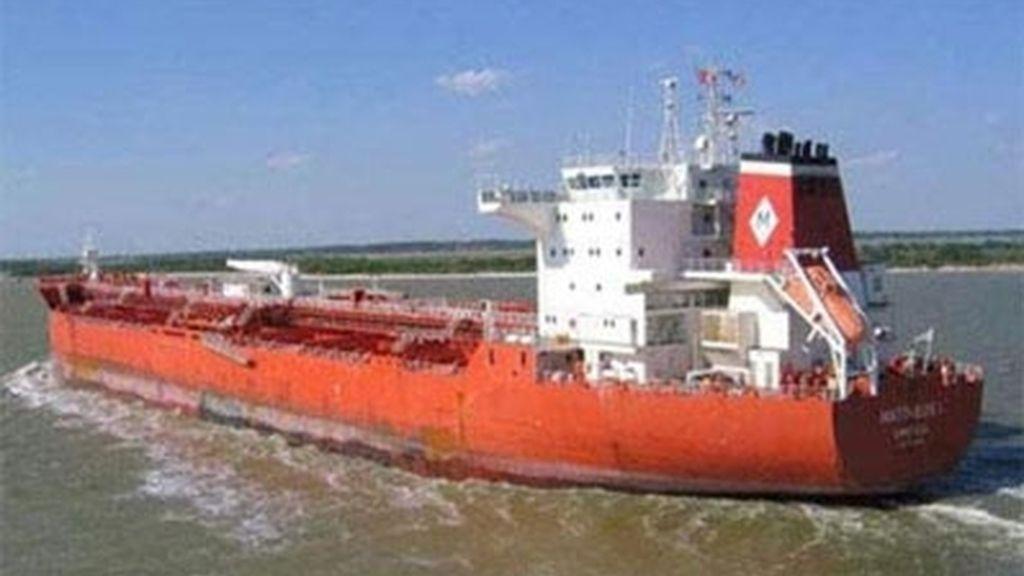El petrolero secuestrado con varios españoles a bordo en el golfo de Guinea, 'Mattheos I'.