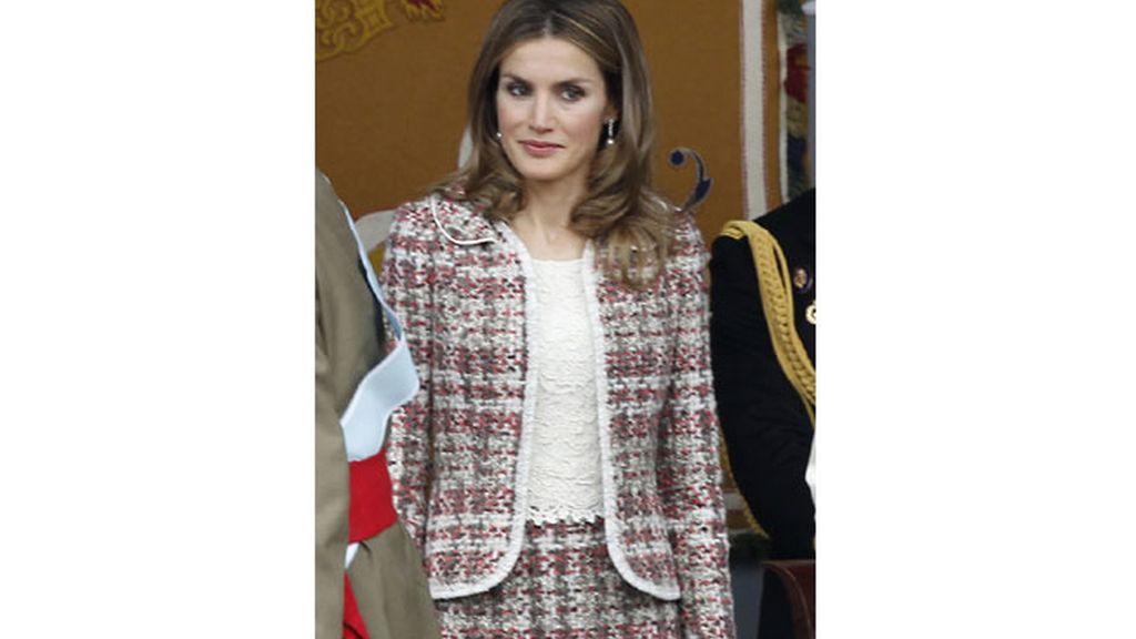 La princesa Letizia Ortiz en el Desfile de la hispanidad