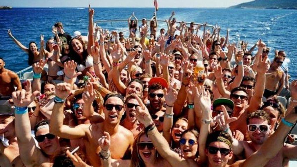 Una boat party en Ibiza