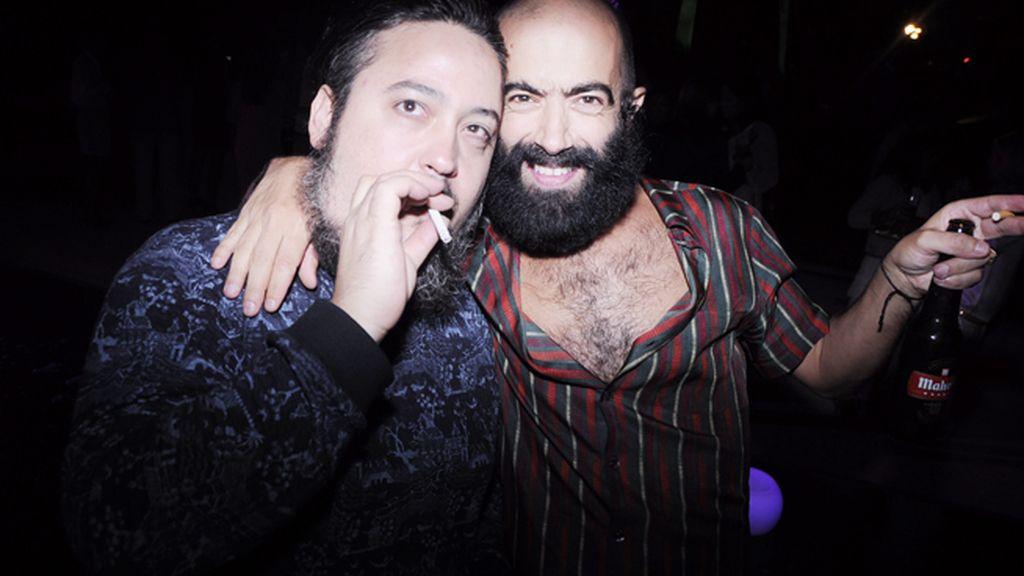 Miguel Agnes y el diseñador Carlos Díez