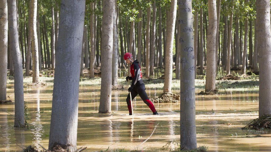 Búsqueda del hombre desaparecido en la riada de Teruel