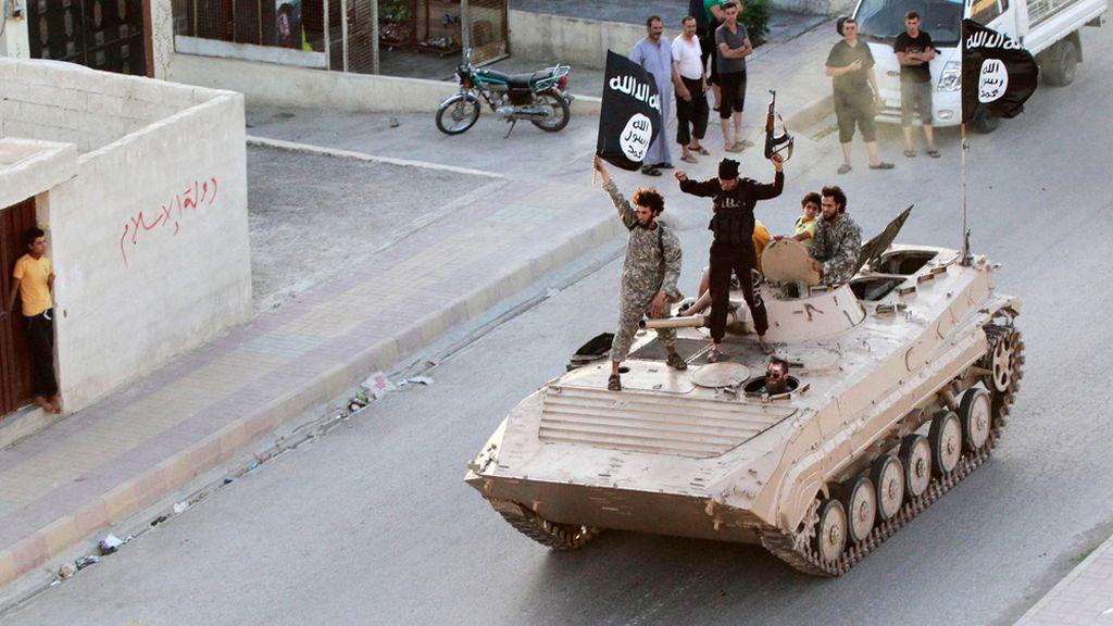 Miembros del ISIS en Raqqa