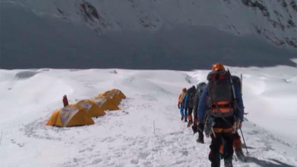 Desafío Everest, la cascada de hielo, en imágenes