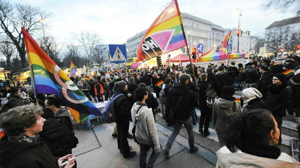 Manifestación en Viena