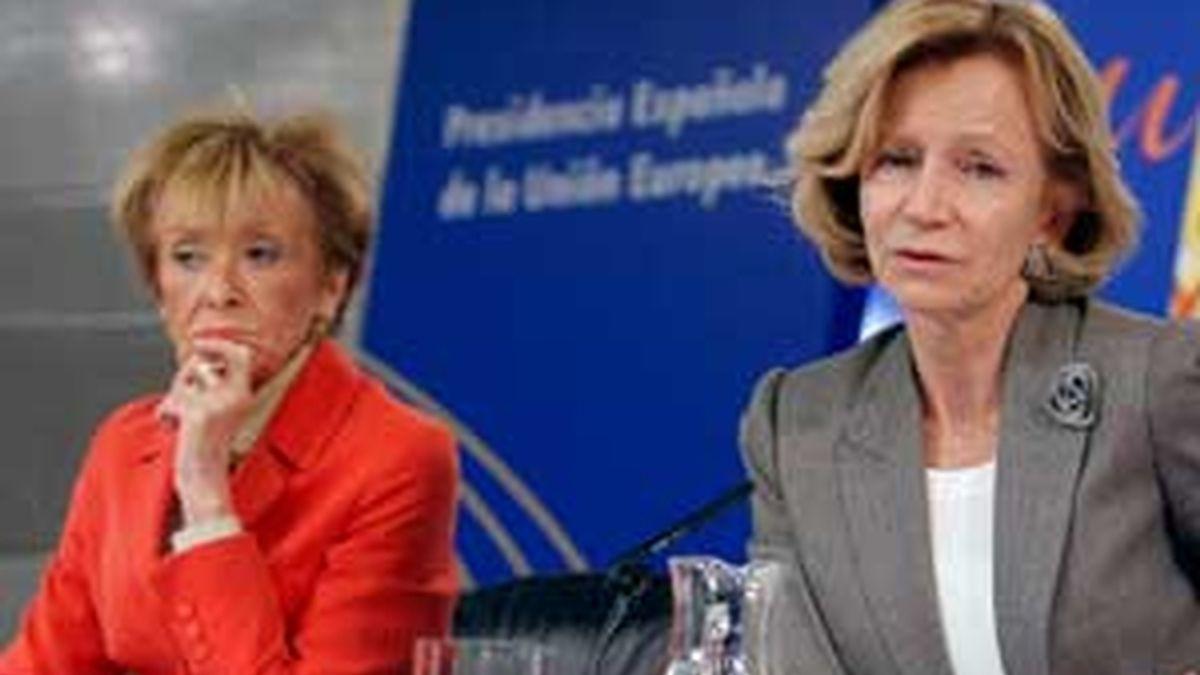 De la Vega y Salgado anunciaron el pasado viernes tras el Consejo de Ministros la iniciativa del Gobierno para aumentar la edad de jubilación. FOTO: EFE / Archivo