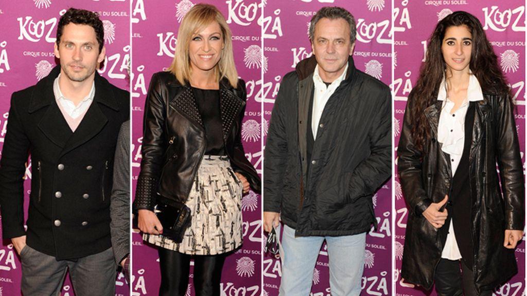 Muchos actores y profesionales de la televisión acuden al estreno de 'Kooza' en Madrid