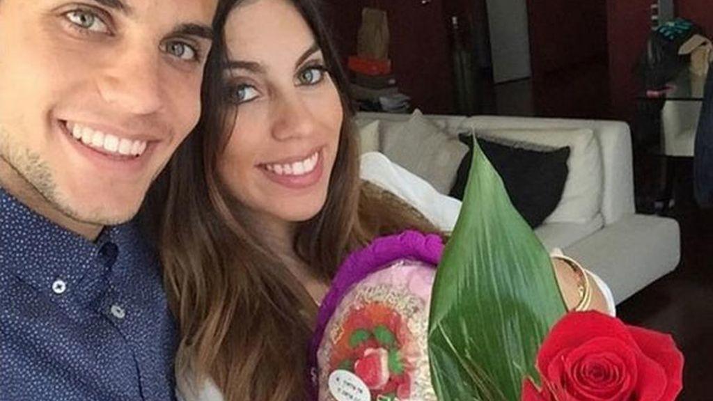 Marc Bartra y Melissa Jiménez ya son padres