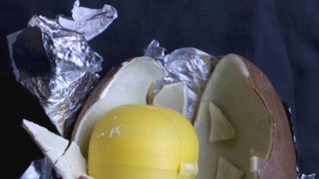 Droga escondida en huevos Kinder