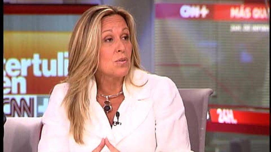 "Trinidad Jiménez en ""La tertulia de CNN+"""