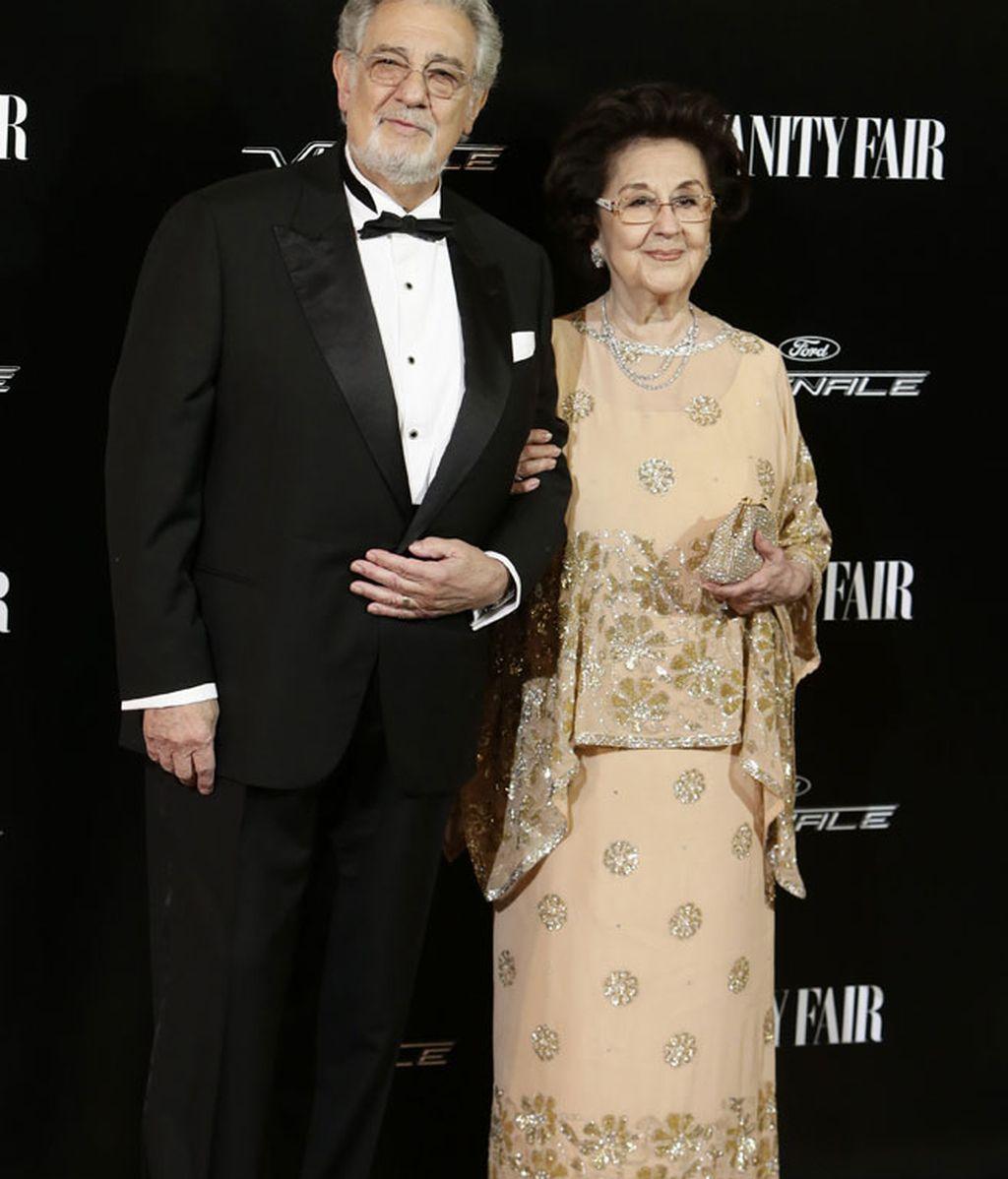"""Plácido Domingo, """"personaje del año"""", acudía acompañado de su mujer Marta Ornelas"""