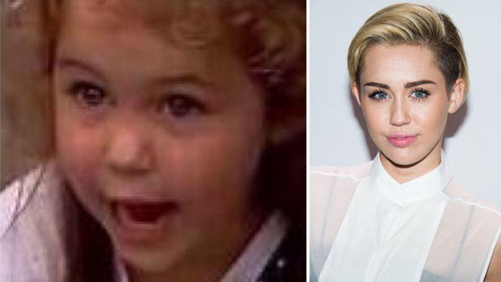 Miley Cyrus con poco más de tres años
