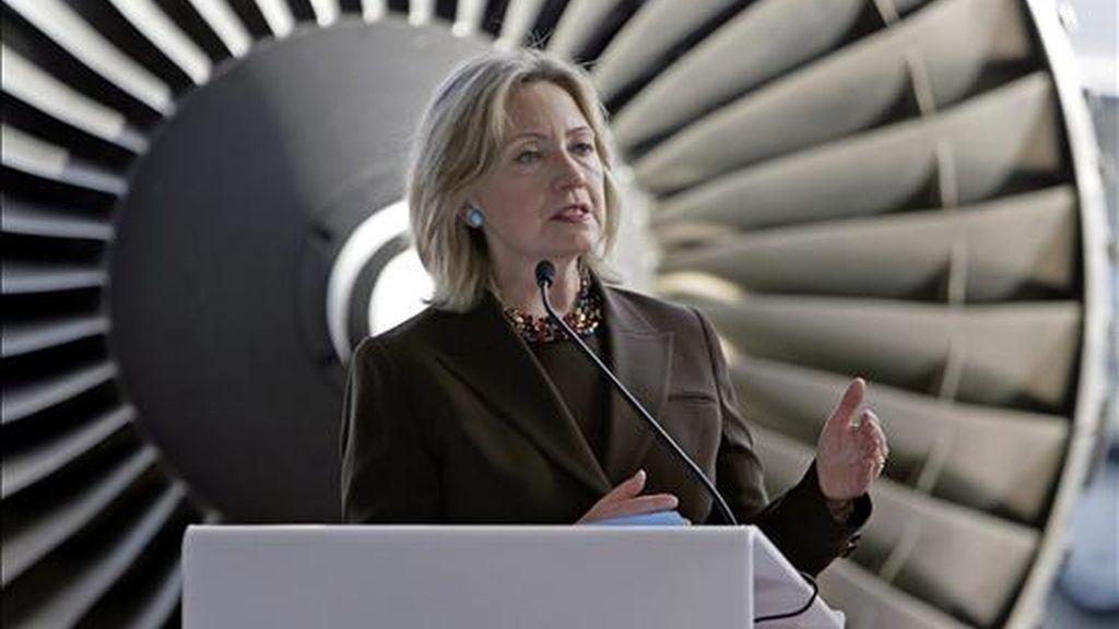 """La secretaria de Estado de EE.UU., Hillary Clinton, dijo: """"Ha llegado el momento de lidiar con los asuntos claves de este conflicto: fronteras y seguridad, asentamientos, agua, refugiados y Jerusalén en sí"""". EFE/Archivo"""