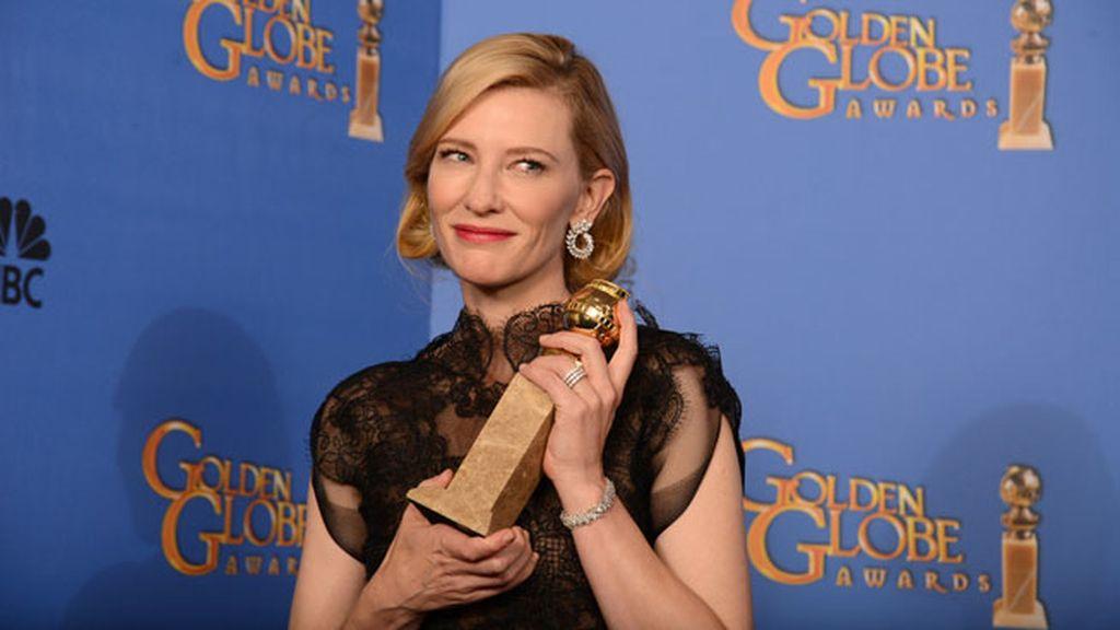 Cate Blanchett con su globo de oro
