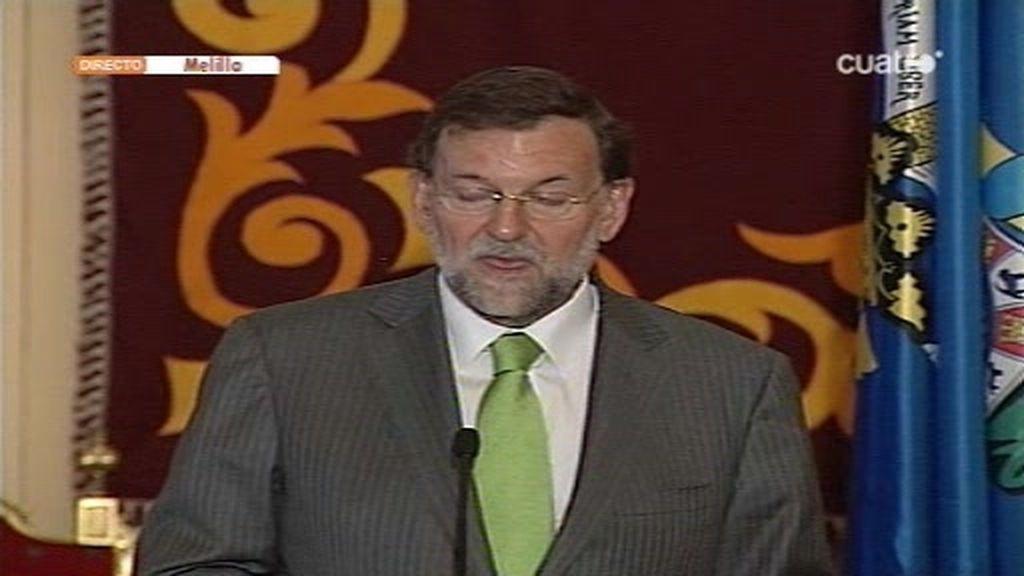 Mariano Rajoy comenta su próximo viaje a Melilla