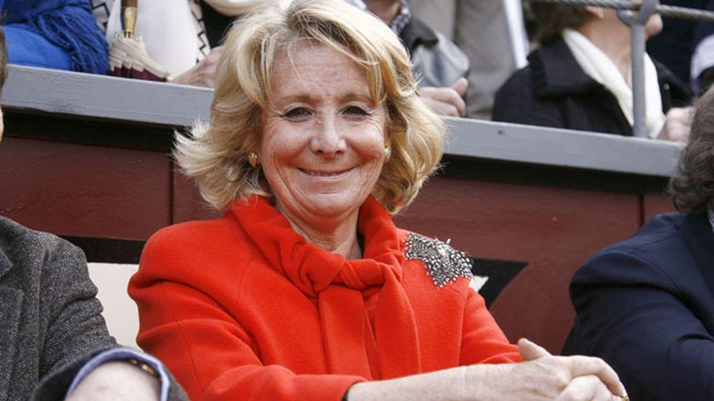 La presidenta del PP madrileño, Esperanza Aguirre
