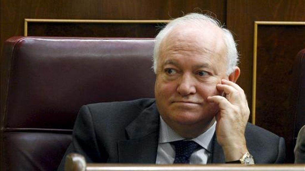 El ex ministro de Asuntos Exteriores Miguel Angel Moratinos, durante un pleno celebrado en el Congreso de los Diputados. EFE/Archivo