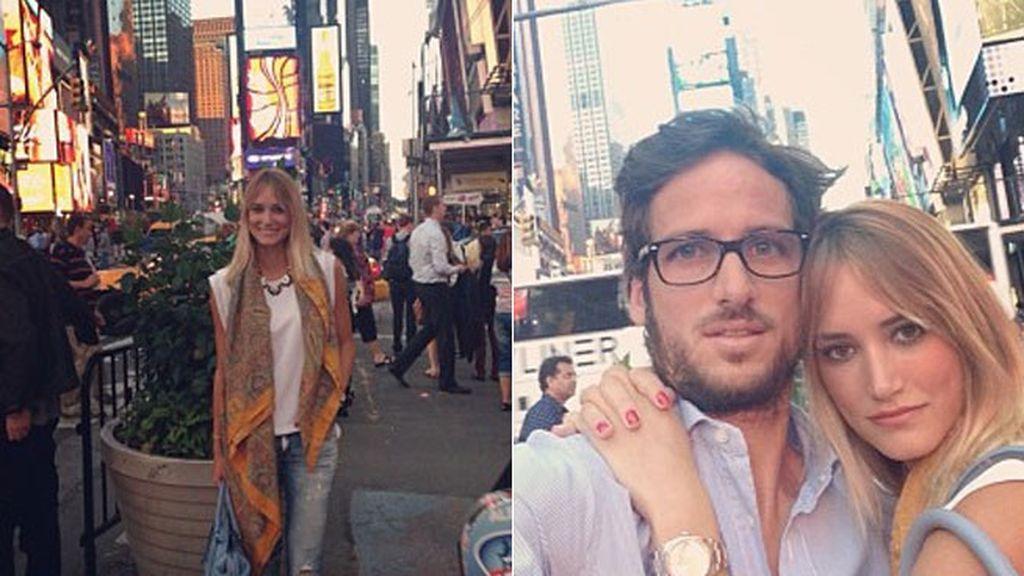 Celebrando los ocho meses en Times Square