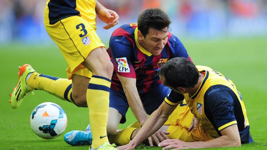 Messi apenas tocó balón
