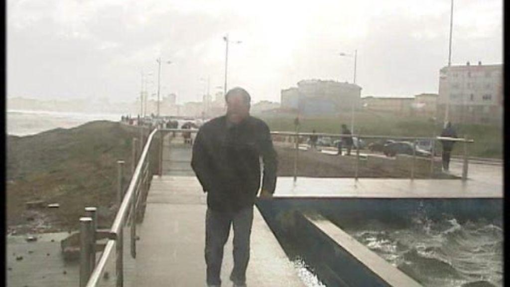 El temporal azota a Galicia