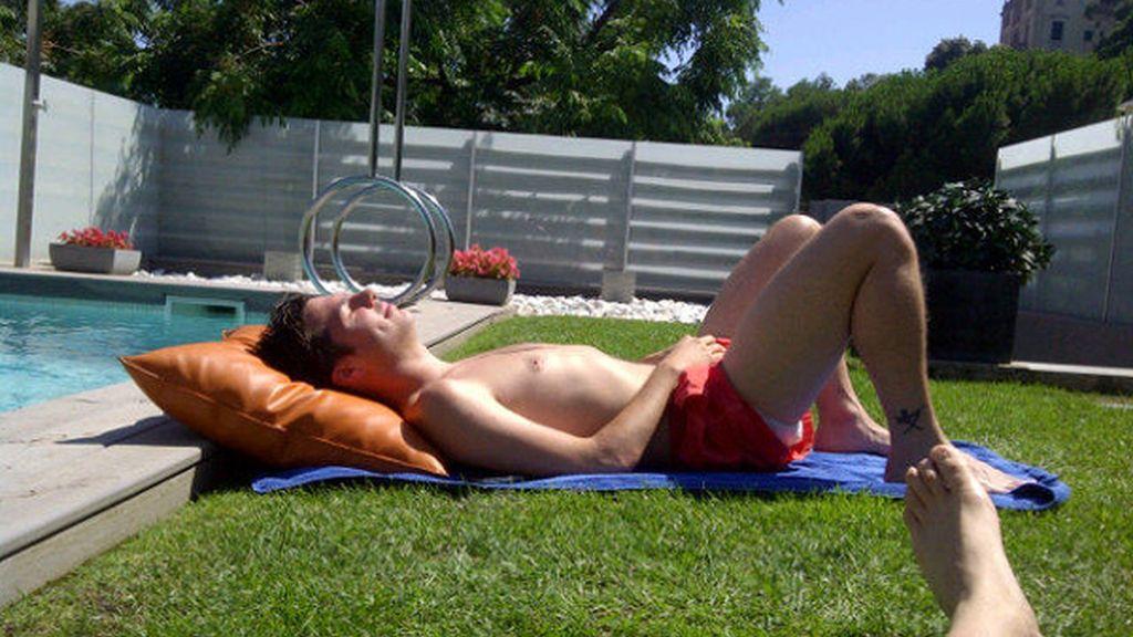 Al futbolista le encanta publicar fotos en twitter, ésta, de sus vacaciones
