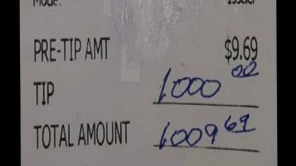 Propina de 1.000 dólares