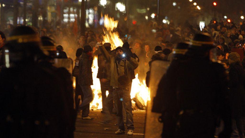 Disturbios en París en las últimas horas de una jornada de huelga general