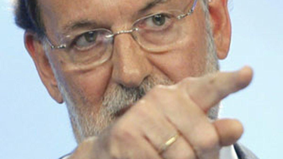 Rajoy no comparecía ante los medios en la sede de Génova desde el pasado 13 de abril. Vídeo: ATLAS