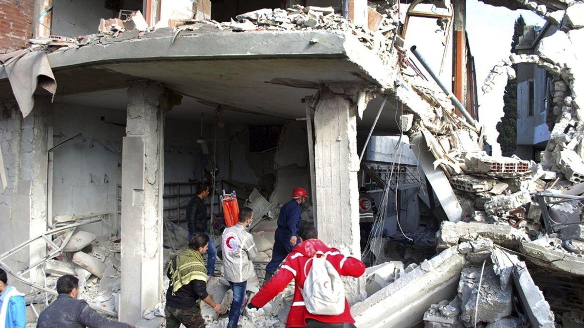 Atentado en una escuela en Siria