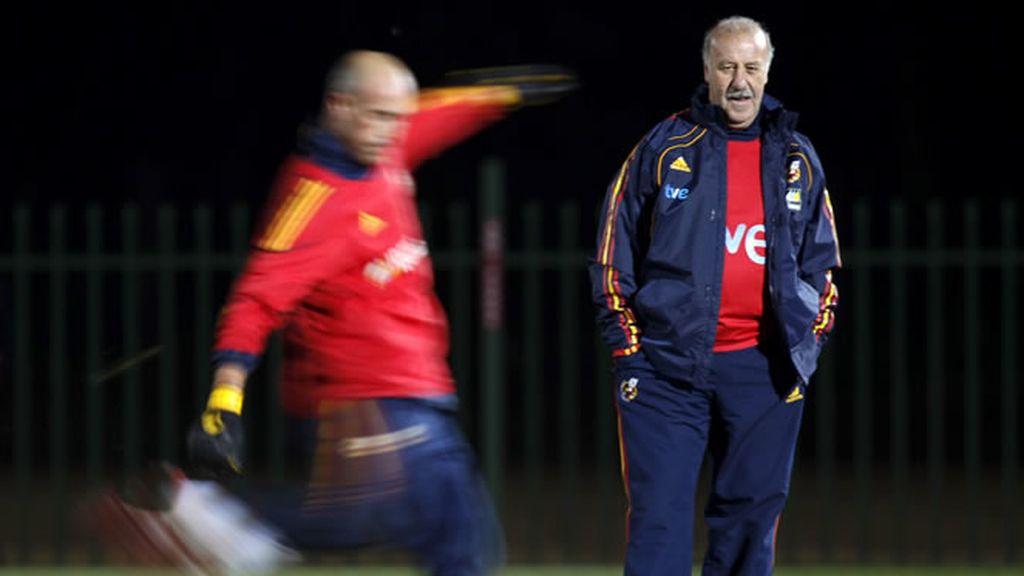 Del Bosque no está contento con el juego de España