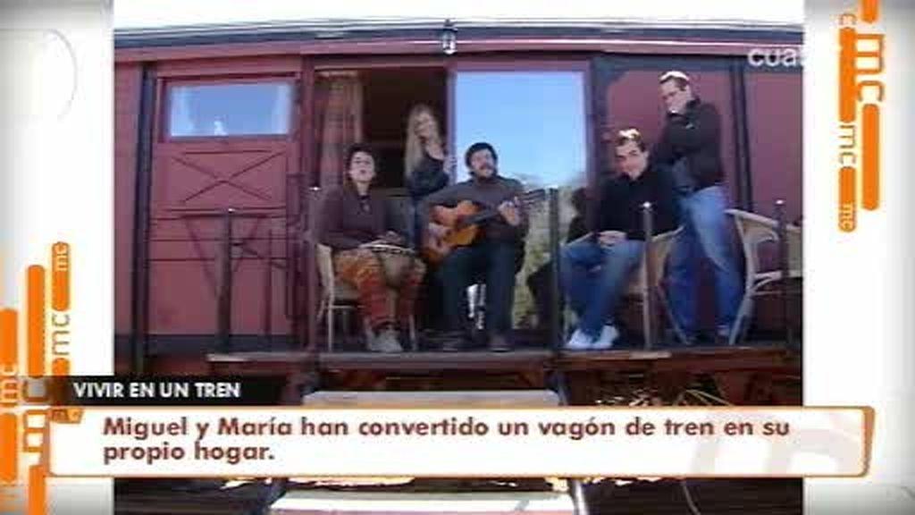 ¿Se imagina vivir en un tren?