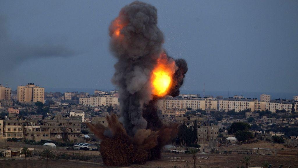 Israel lanza un nuevo misil a Gaza. Foto. EFE