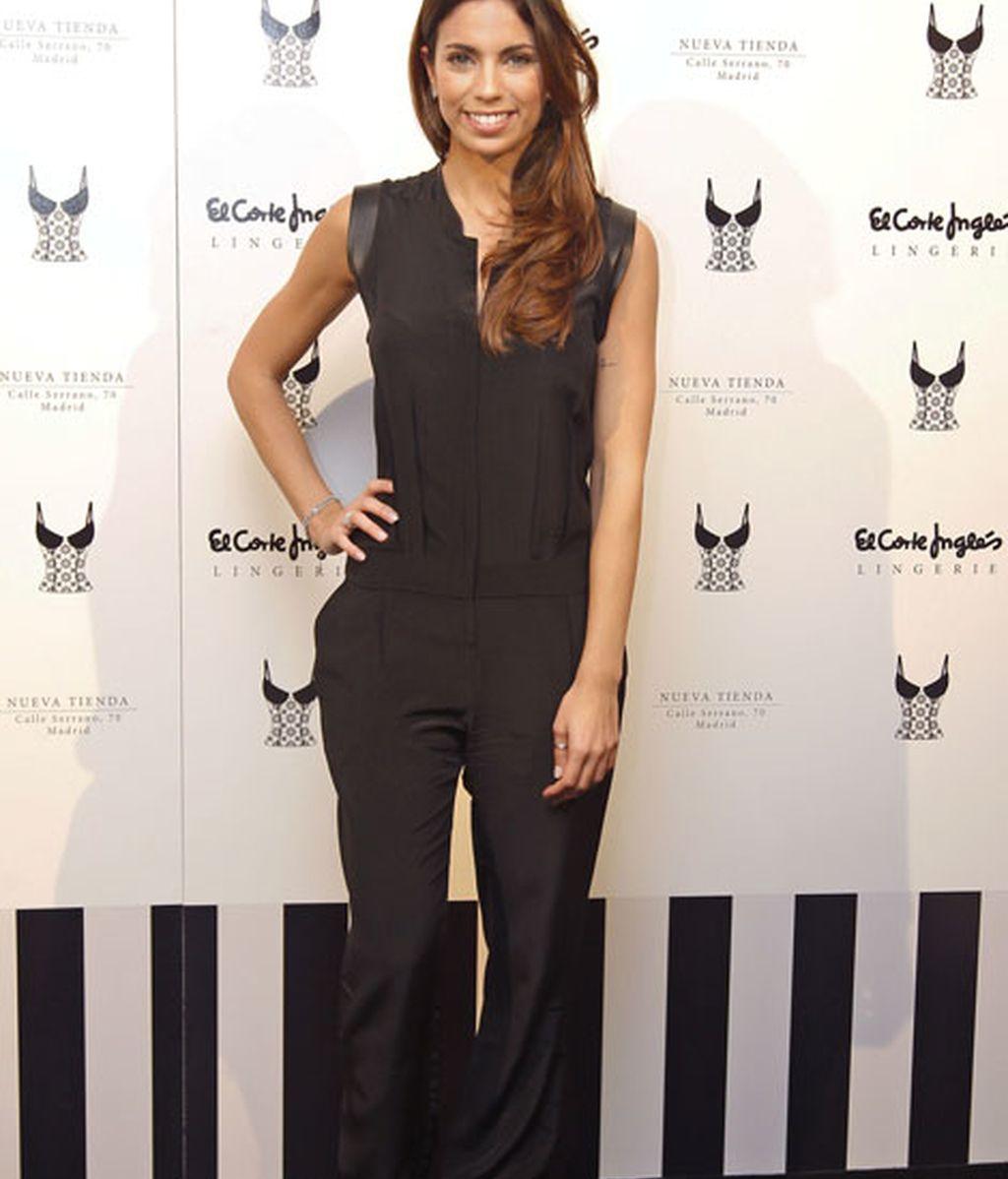 Melissa Jiménez en la inauguración de 'Lingerie'