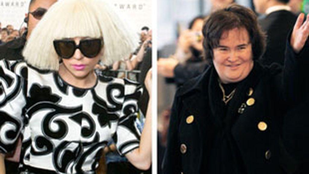 Lady Gaga y Susan Boyle fueron las que más disco vendieron en Reino Unido el pasado año.