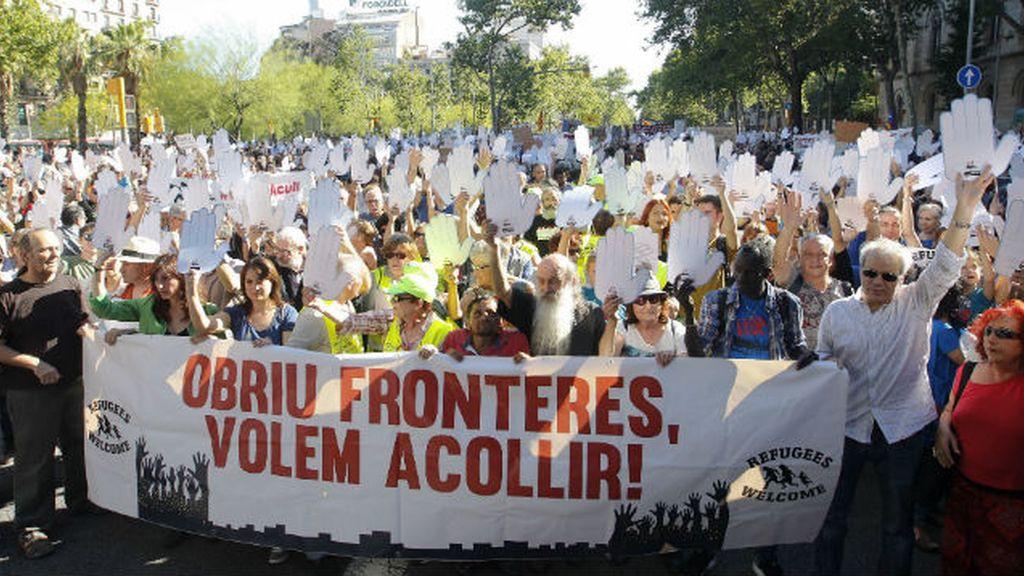 manifestación,Barcelona,Día Mundial del Refugiado,Madrid,España