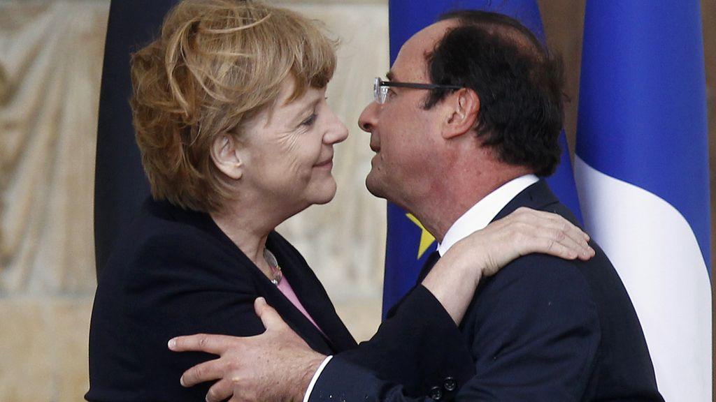 Angela Merkel y Francois Hollande, 50 aniversario de la paz franco-alemana