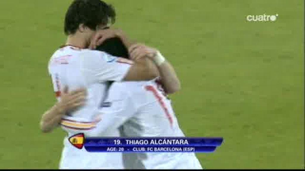 SUI 0 - 2 ESP: Thiago Alcántara