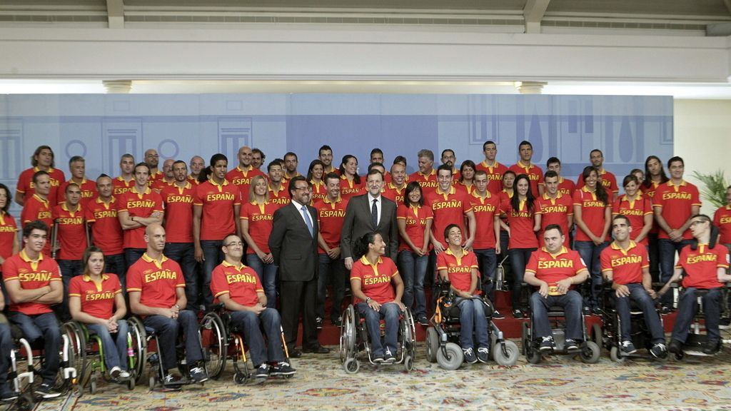 Mariano Rajoy y Miguel Carballeda, presidente del Comité Paralímpico español. Foto EFE