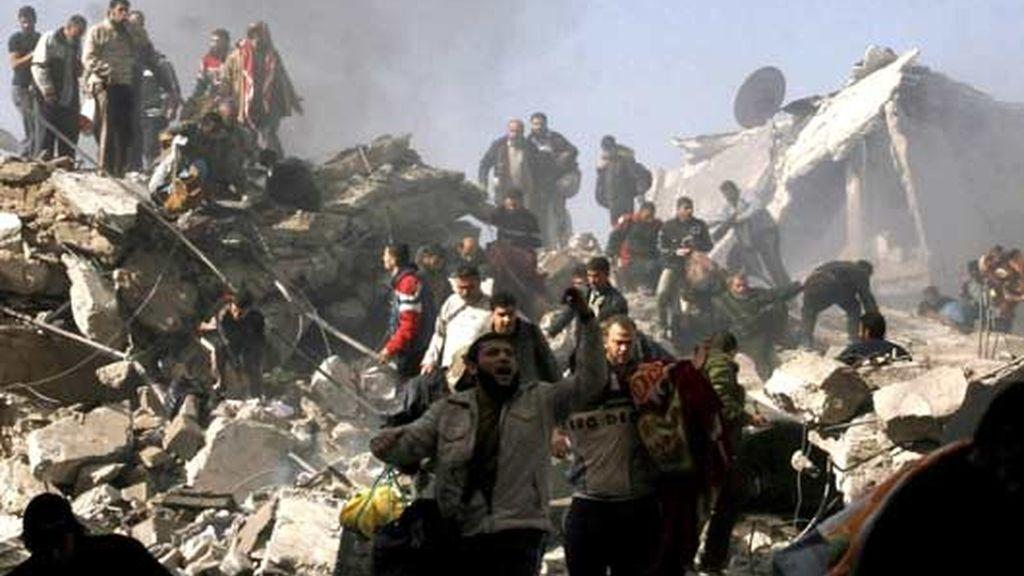 Tercer día de bombardeos