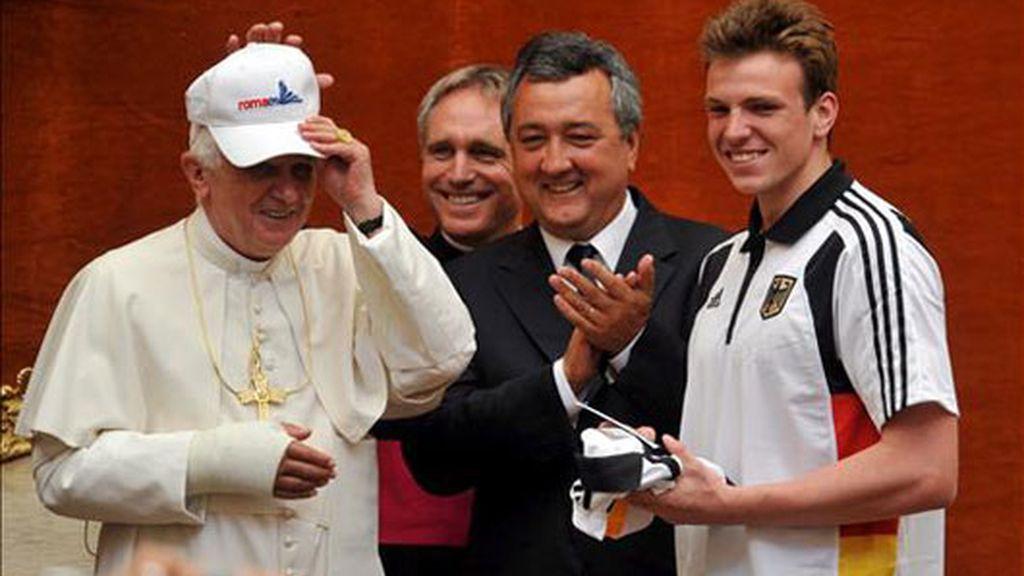 El Papa, con los deportistas jóvenes