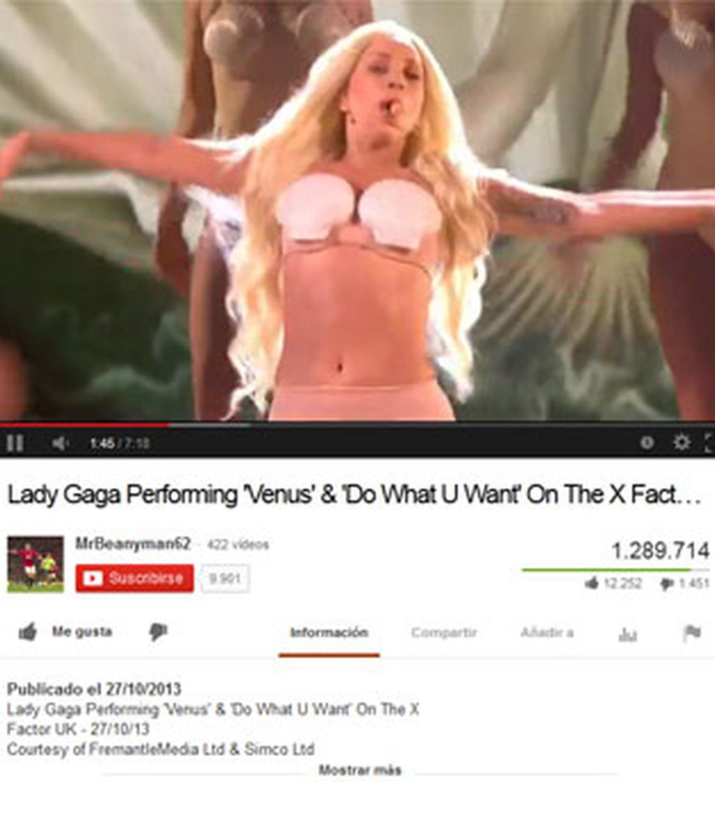 Cientos de quejas en 'Factor X' por la actuación de Lady Gaga