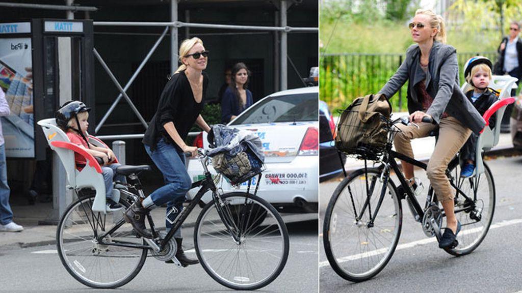 Naomi Watts, siempre ciclista